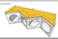 Design And Schematic Of Double V Outdoor Middle Sound System Box